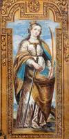 Granada - frühchristliche Märtyrerin Saint Catharine von Alexandria foto