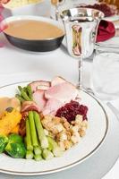 Thanksgiving oder Weihnachtsessen foto