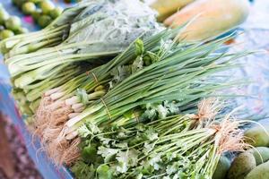 Gemüse auf dem thailändischen Markt foto