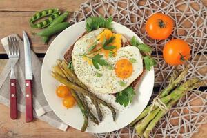 Eier auf Brot