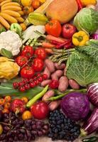 natürlicher Nahrungsmittelhintergrund foto