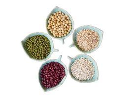 rote Bohnen, grüne Bohnen, Sorghum, Sojabohnen, Weizen foto