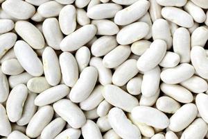 Marine, Haricot, weiße Erbse, weiße Niere oder Cannellini Bohnen textu foto