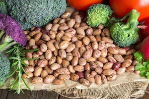 Pinto Bohnen und Gemüse foto