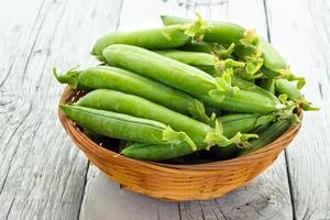 grüne Erbsen foto