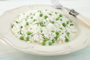 Reis mit grünen Bohnen foto