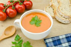 Hausgemachte Tomaten Suppe foto