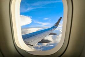 Flugzeugflügel foto