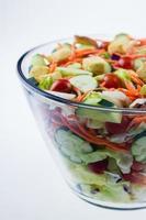 frischer Gartensalat foto