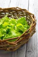 Korb mit Salat
