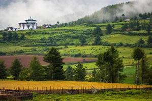Bhutan Landschaft foto