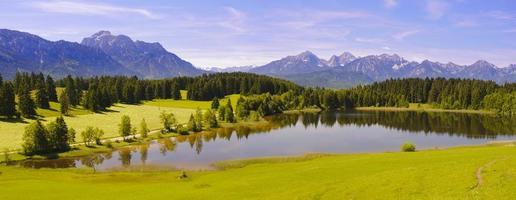 Panoramalandschaft in Bayern
