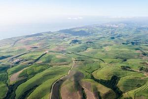 fliegende Landschaft Zuckerrohr Küste foto