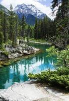 Berg- und Flusslandschaft foto