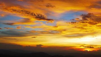 Sonnenuntergang Himmel Hintergründe, Landschaft