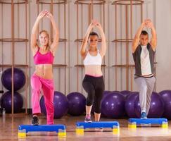 Fitness-Schritt foto