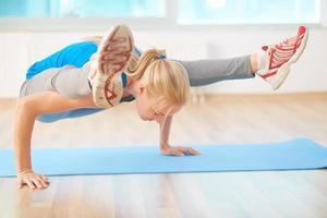 Yoga-Übung foto