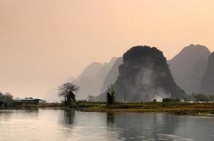 Landschaft in Yangshuo Guilin, China foto