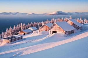Winter, Hütten