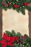 dekorative Wintergrenze foto