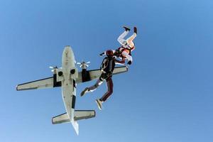 Fallschirmspringen Foto.