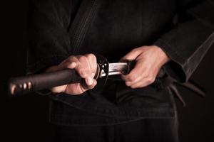 japanisches traditionelles Schwert foto