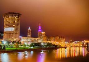 Cleveland. Bild von Cleveland Innenstadt in der Nacht