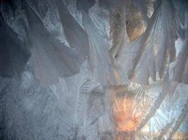gefrorenes Winterfenster
