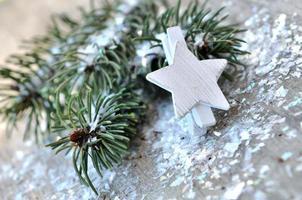Winter und festliche Dekoration foto