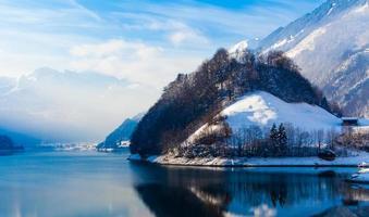Winter in den Schweizer Alpen.