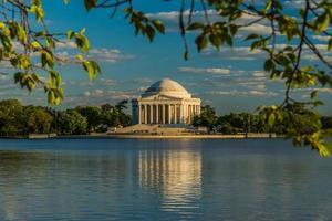 Jefferson Memorial während der goldenen Stunde foto