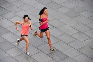Fitness Frauen laufen