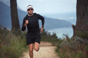 Fitness-Mann läuft