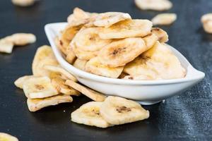 Bananenchips (Nahaufnahme) foto