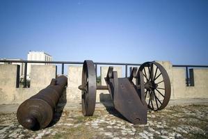 Kanonen der Dominikanischen Republik Santo Domingo auf Las Damas