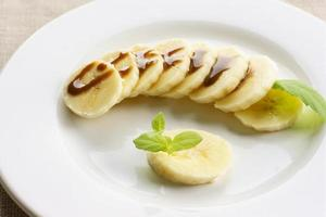 Banane und Schokolade foto