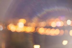 Stadtlichter mit schönem Bokeh foto