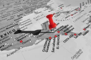 rote Markierung über Honduras foto