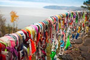 felsige Küste des Baikalsees. foto