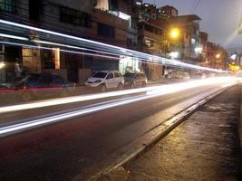 Zeitraffer in Barrios von Caracas foto