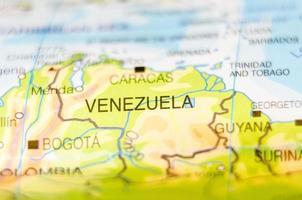 Venezuela Land auf Karte foto