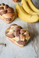 Bananenbrot mit Schokolade foto