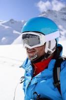 Skifahrer, Skifahren, Wintersport.