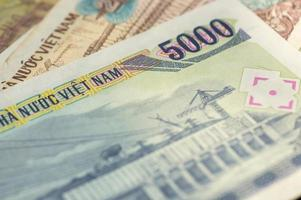 Banknote in fünftausend vietnamesischen Dong Nahaufnahme foto