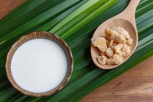 Zutat für thailändisches Dessert foto