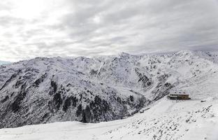 Wolkige Alpen