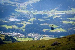 Gondel in den Alpen