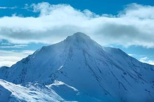 silvretta alpen winterblick (österreich). foto