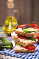 Sandwich mit Tomaten foto