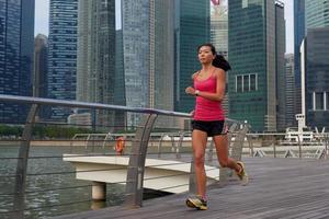 Fitness Frau läuft